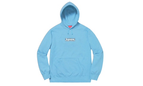 Sneakers Bandana Box Logo Hooded Sweatshirt Blue -Heatstock