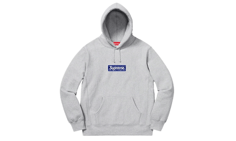 Sneakers Bandana Box Logo Hooded Sweatshirt Grey -Heatstock