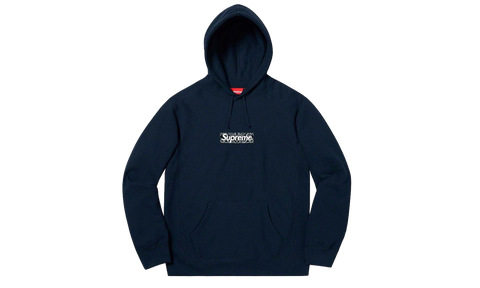 Sneakers Bandana Box Logo Hooded Sweatshirt Navy -Heatstock