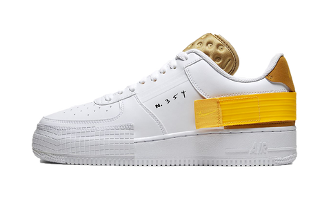 Sneakers Air Force 1 Drop Type White Gold Yellow -Heatstock
