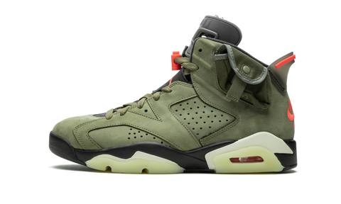 Air Jordan 6 Travis Scott Medium Olive - TheHeatstock
