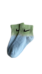 Sneakers Socks Nike Tie-Dye Half Blue Green Mid -Heatstock