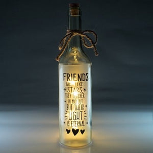 Friends light up star bottle