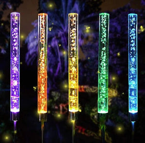 2 Solar-Powered LED Color Changing Hightbright™ Bubble Lights