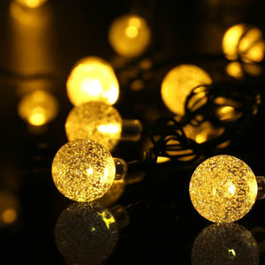Solar Powered Crystal Ball Fairy String Lights