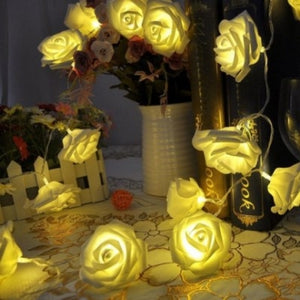 Warm White LED Rose Flower Fairy String Lights