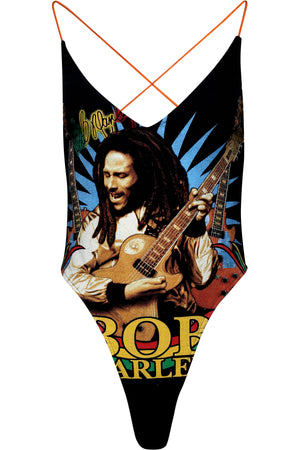 REPURPOSED VINTAGE IRENE BODYSUIT (BOB MARLEY)