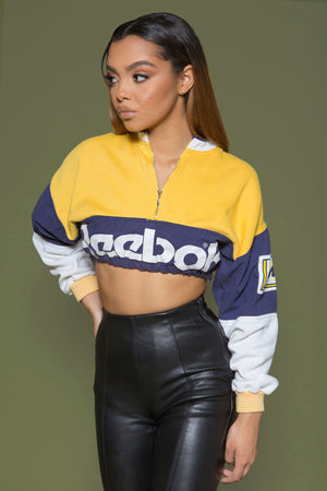 REPURPOSED VINTAGE REEBOK CROPPED PULLOVER