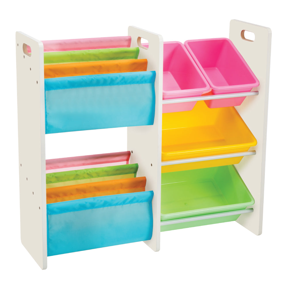 Baby Star x Delsun Book Rack & 4 Toy Storage Organizer - Macaron