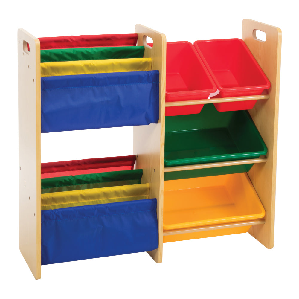 Baby Star x Delsun Book Rack & 4 Toy Storage Organizer - Rainbow