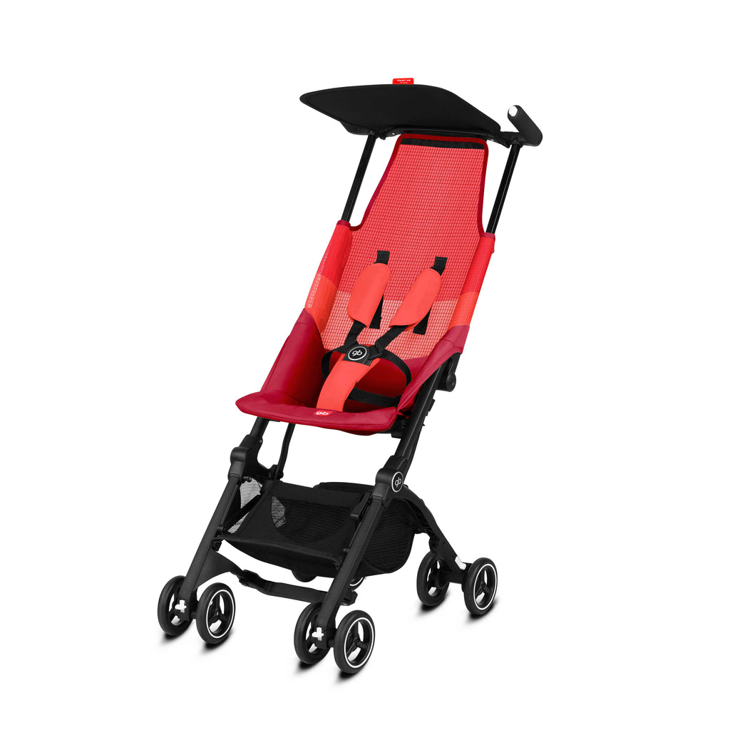 gb Gold Pockit Air Stroller with Carrying Bag and Strap - Rose Red