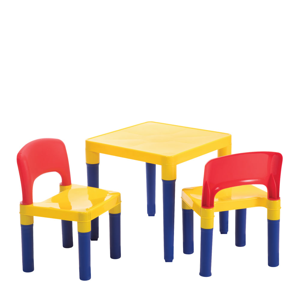 Baby Star x Delsun Children Table and Chair Set - Rainbow