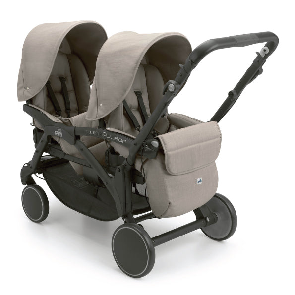 CAM Twin Pulsar Baby Stroller - Brown