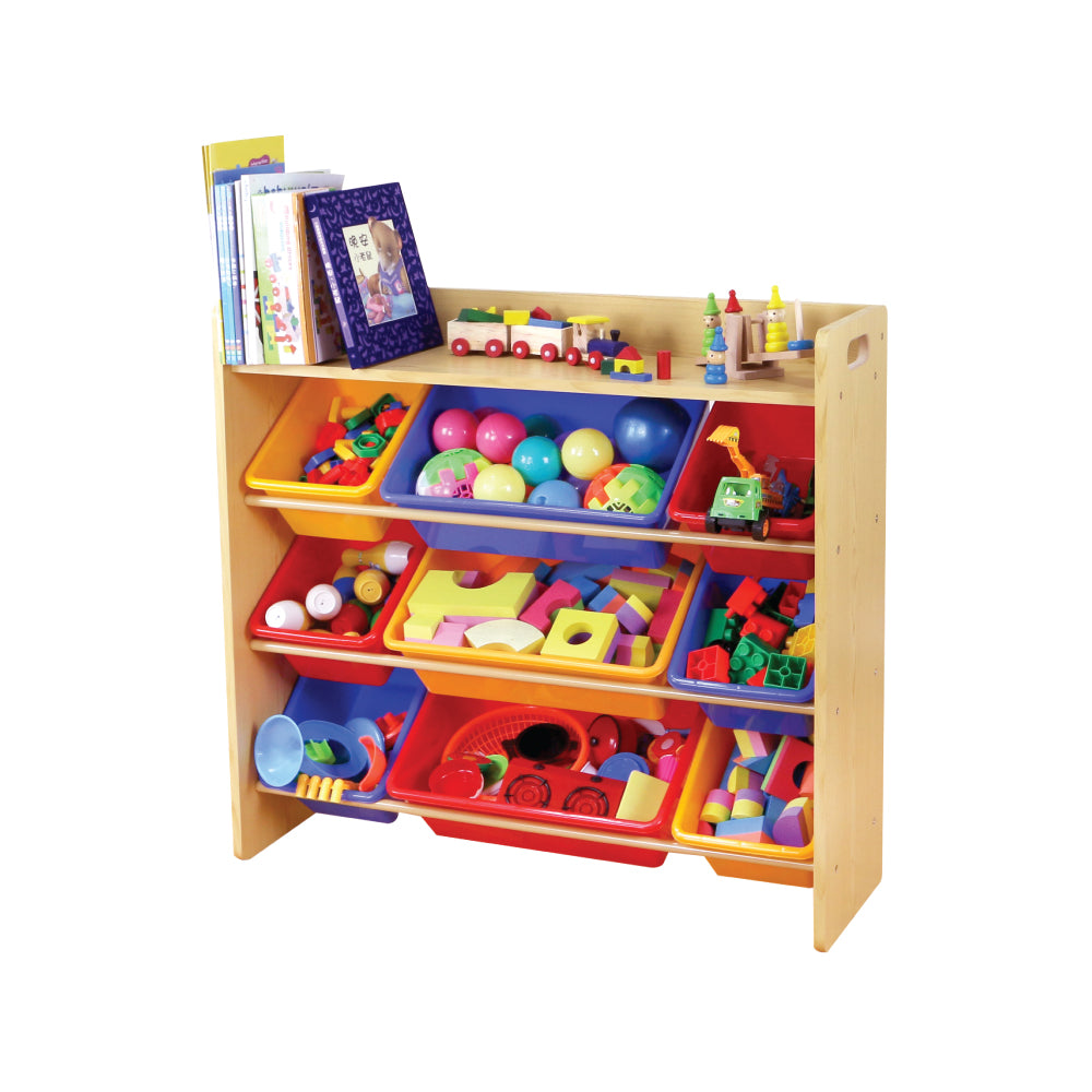 Baby Star x Delsun 9 Toy Storage Organizer with Shelf - Rainbow