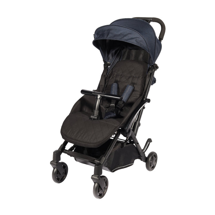 Baby Star Tavo R+ Baby Stroller with Carrying Bag - Jeansy Blue