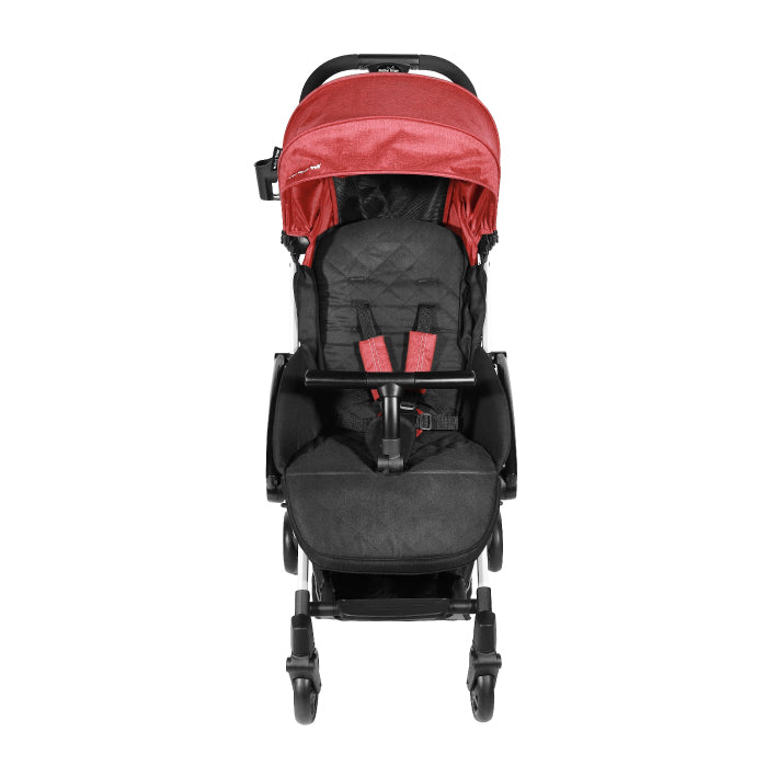 Baby Star Tavo R+ Baby Stroller with Carrying Bag - Rosey Red