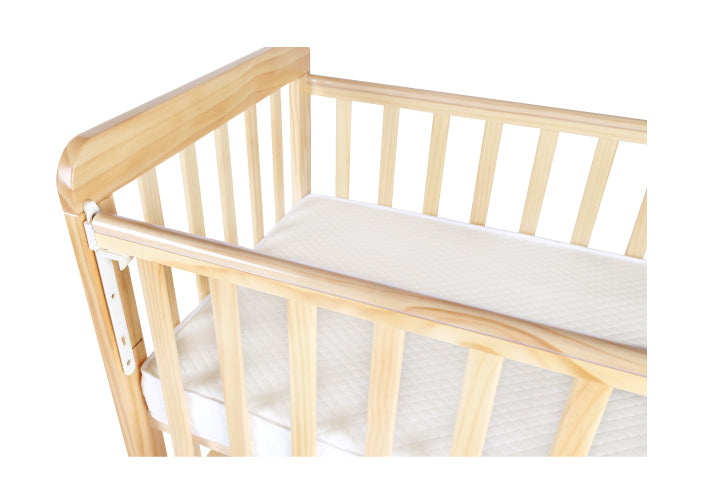 "Baby Star Melio Baby Cot with 3"" Mattress - Natural / New Zealand Pine"