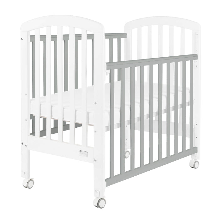 "Baby Star Medi Baby Cot with 3"" Mattress - Grey / New Zealand Pine"