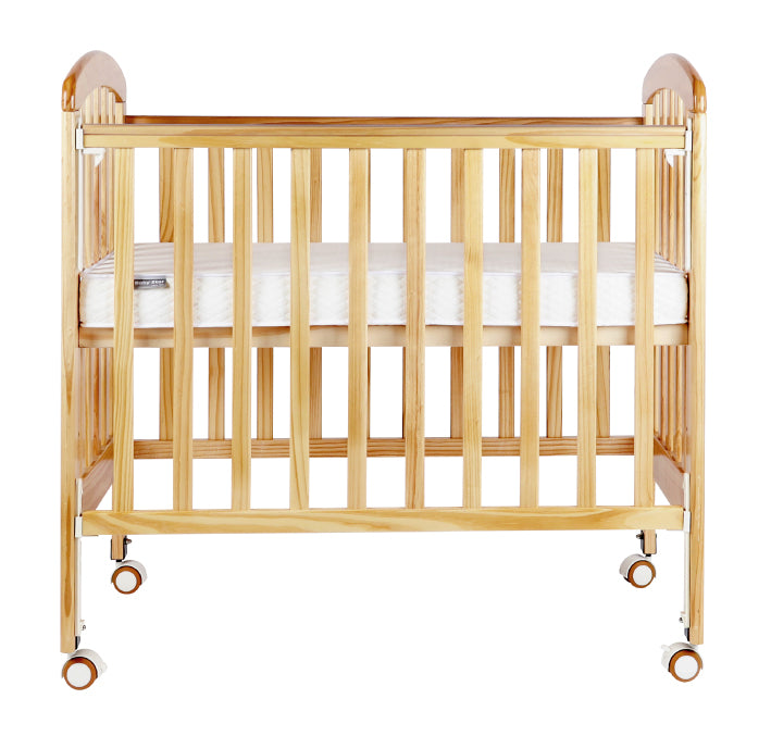 "Baby Star Medi Baby Cot with 3"" Mattress -  Natural / New Zealand Pine"