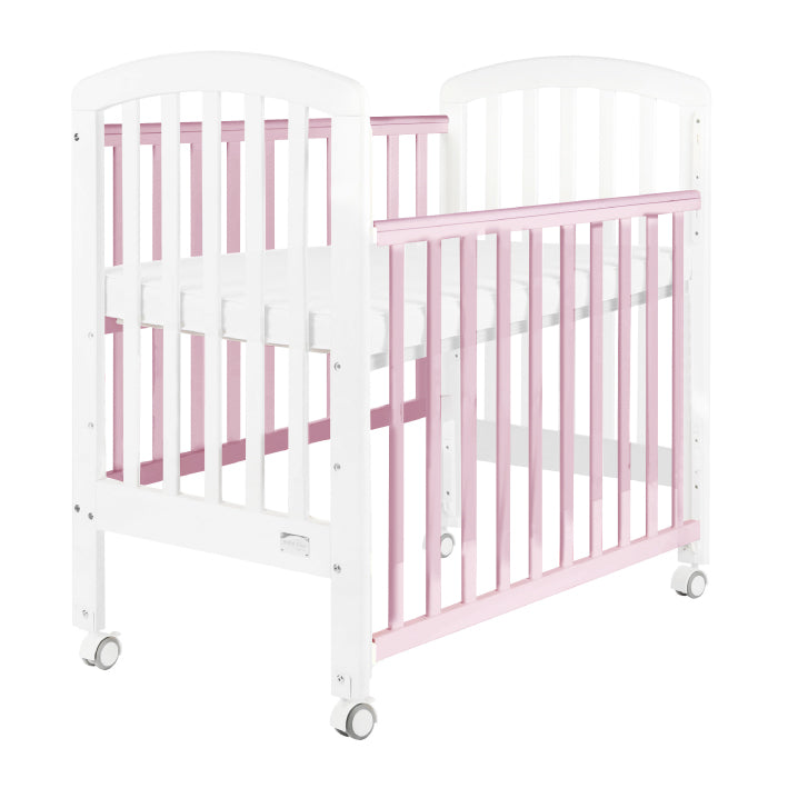 "Baby Star Medi Baby Cot with 3"" Mattress - Pink / New Zealand Pine"