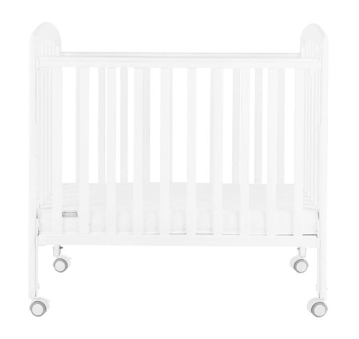 "Baby Star Medi Baby Cot with 3"" Mattress - White / New Zealand Pine"