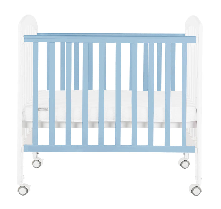 "Baby Star Medi Baby Cot with 3"" Mattress - Blue / New Zealand Pine"
