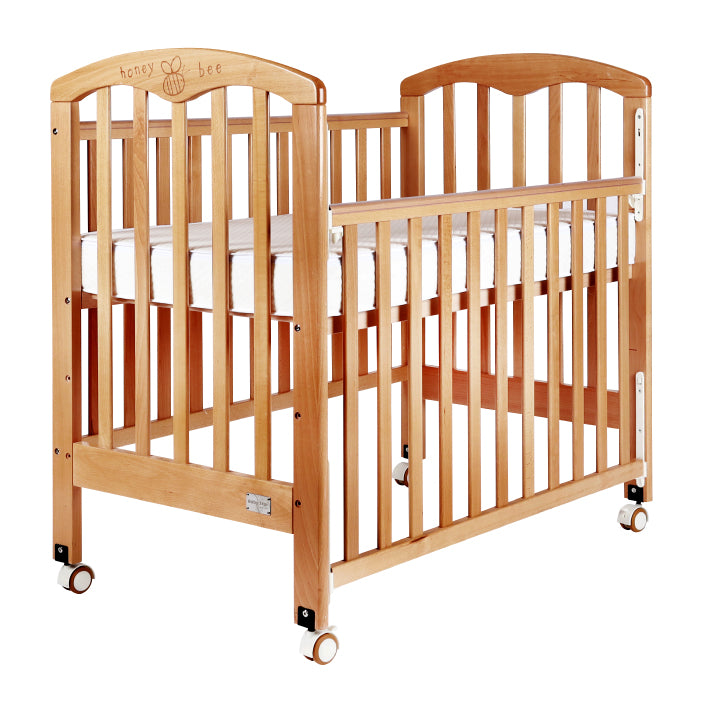 "Baby Star Cozzi Baby Cot with 4"" Mattress - Natural / European Beech"