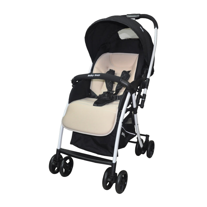 Baby Star Light-weight Reversible Stroller - Khaki