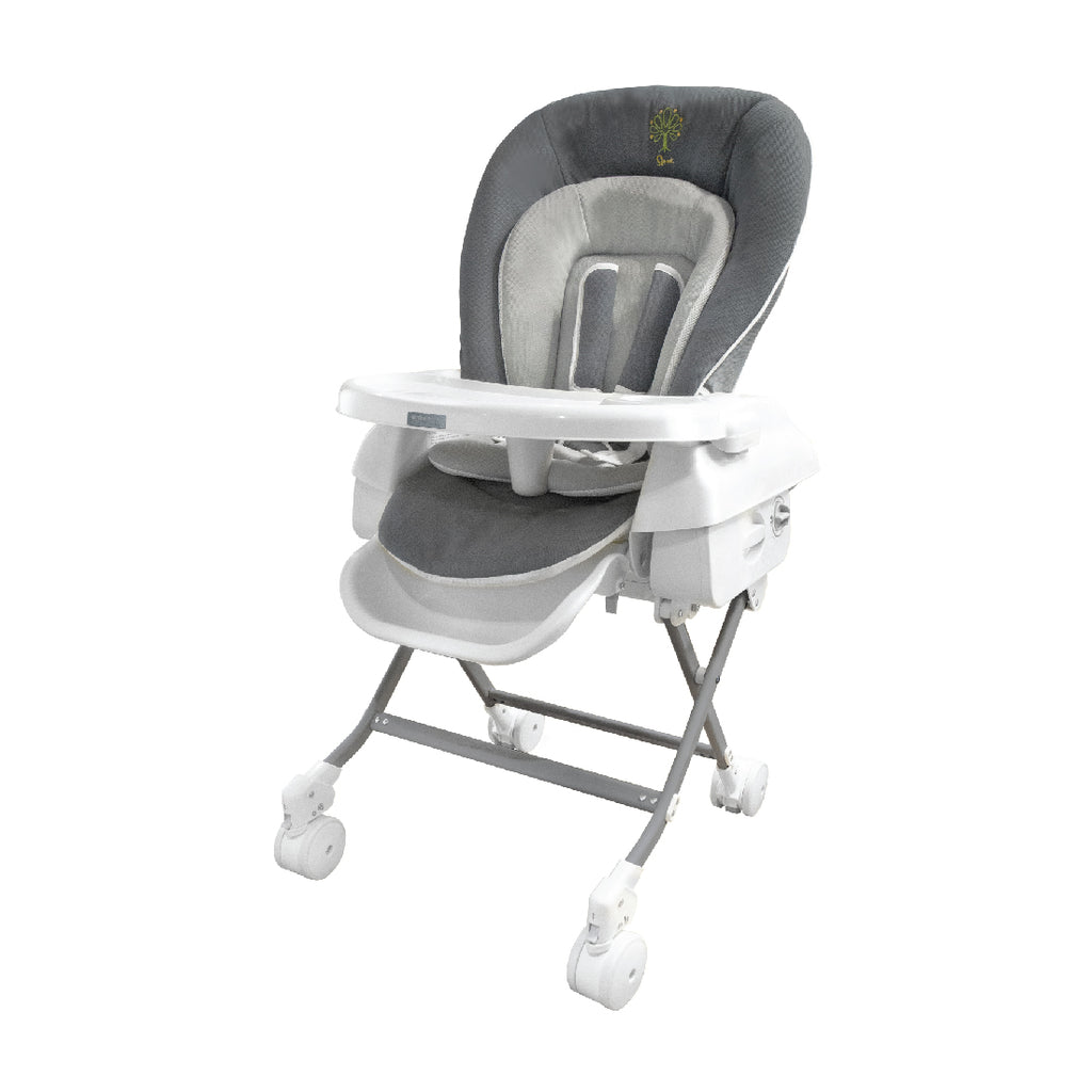 Baby Star Hi-Lo Swing Highchair - Grey