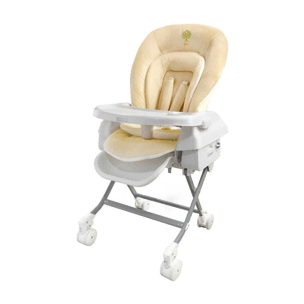 Baby Star Hi-Lo Swing Highchair - Beige