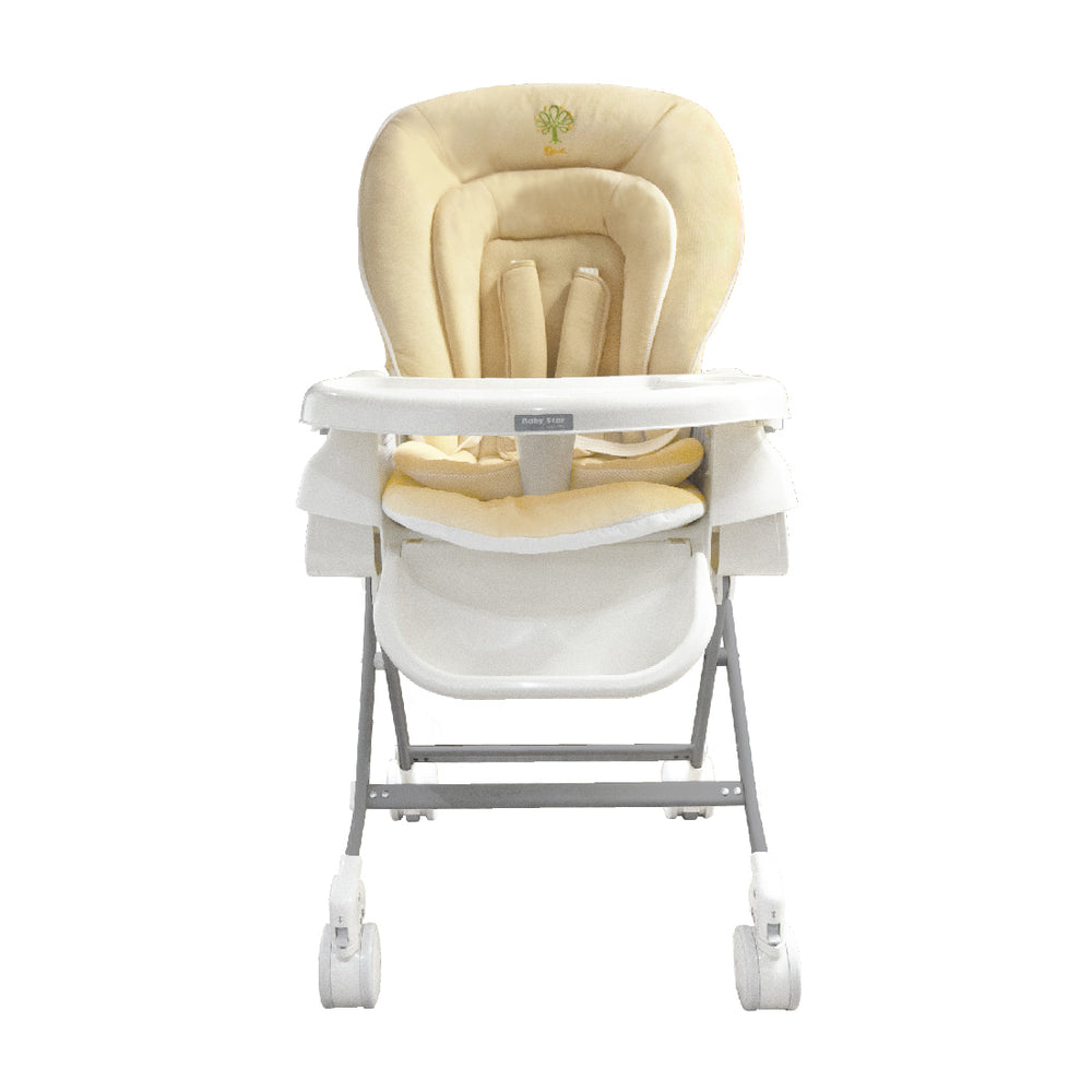 Baby Star Hi-Lo Swing High Chair - Beige