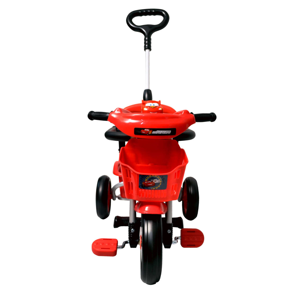 Baby Star x Cars Tricycle with Push Bar & Guard