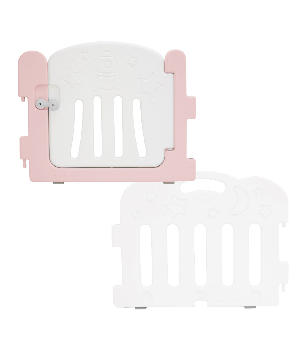 Caraz Baby Room Extension Kit (26 x Door + 26 x Panel) - Lovely Pink + White