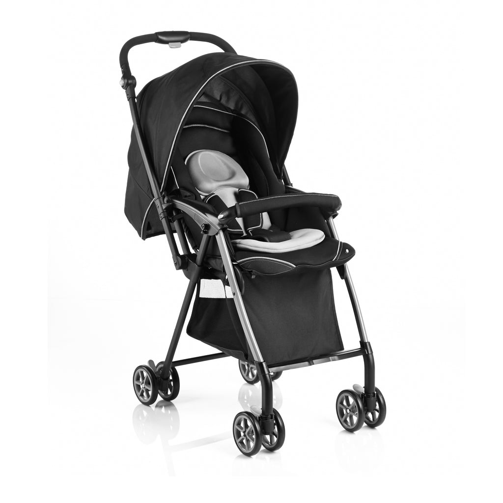 Evenflo 50cm Seat Height Reversible Handle Baby Stroller - Black Grey
