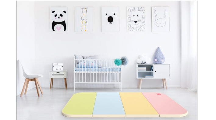 Haenim Toy Premium Play Mat - Rainbow + Beige