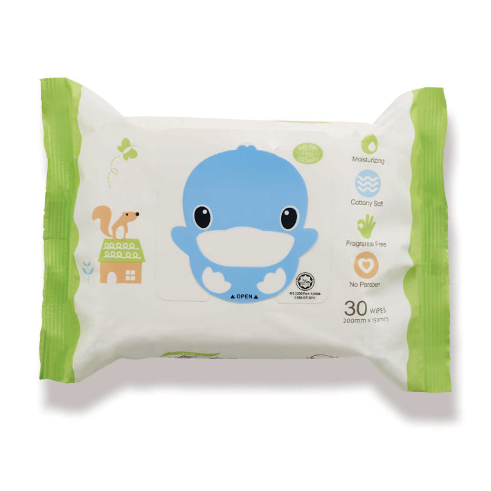 KUKU Extra Thick Baby Wipes - 30 wipes x 3 Pk