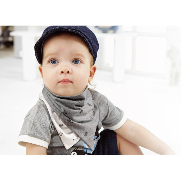 KUKU Reversible Bandana Bibs Monkey - 2 Pack