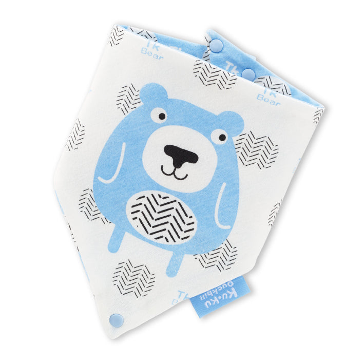 KUKU Pacifier Bandana Bib - Cool Bear