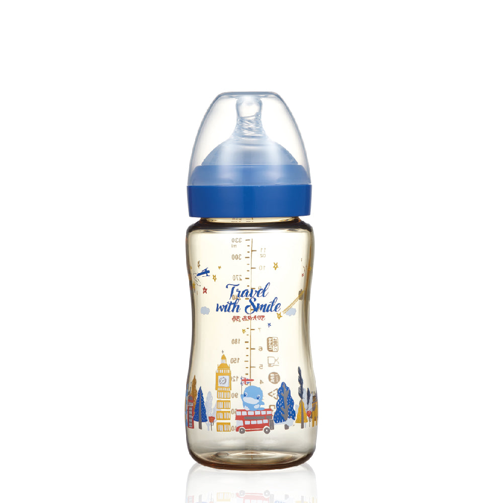 KUKU PPSU Happily Travel to London Baby Bottle 330ml