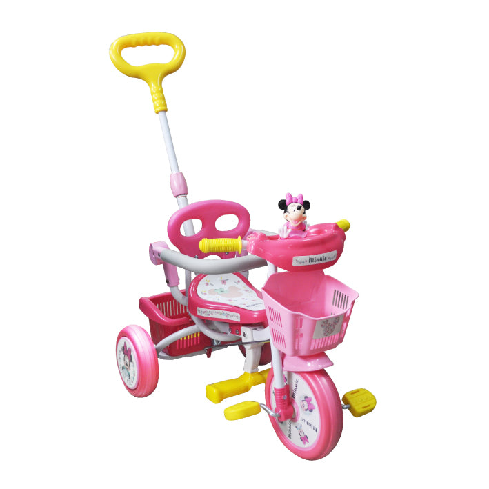 Baby Star X Minnie Mouse Tricycle with Push Bar & Guard