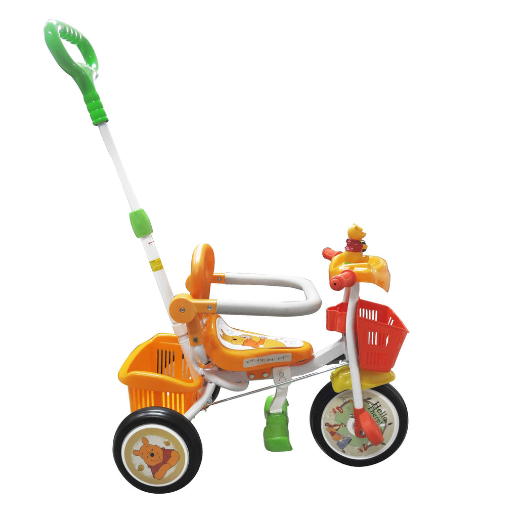 Baby Star X Winnie The Pooh Tricycle with Push Bar & Guard