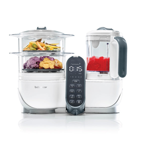 Babymoov Nutribaby+ Food Steamer and Blender - Loft White