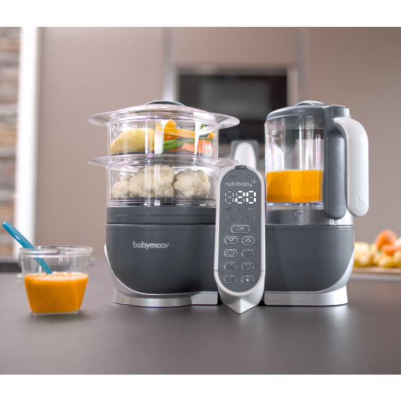 Babymoov Nutribaby+ Food Steamer and Blender - Industrial Grey