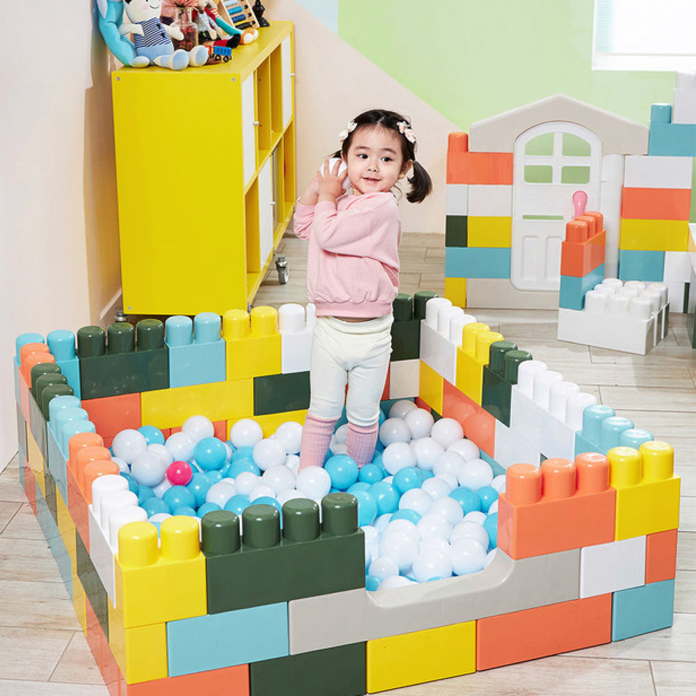 Haenim Toy My 1st House Macaron Big Blocks  - 74 Pieces
