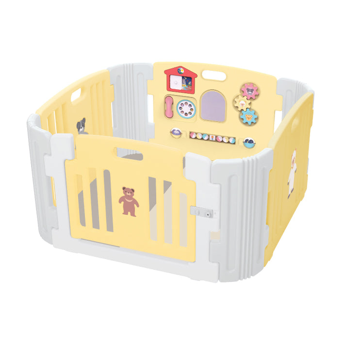 Haenim Toy Signature Baby Room and Play Mat Set - Pastel Yellow