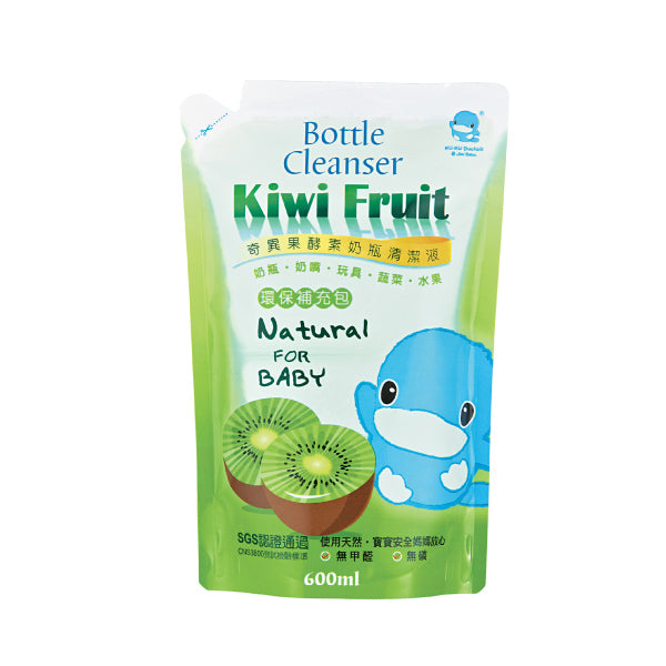 KUKU Kiwi Fruit Bottle Cleanser Refill Pack - 600ml