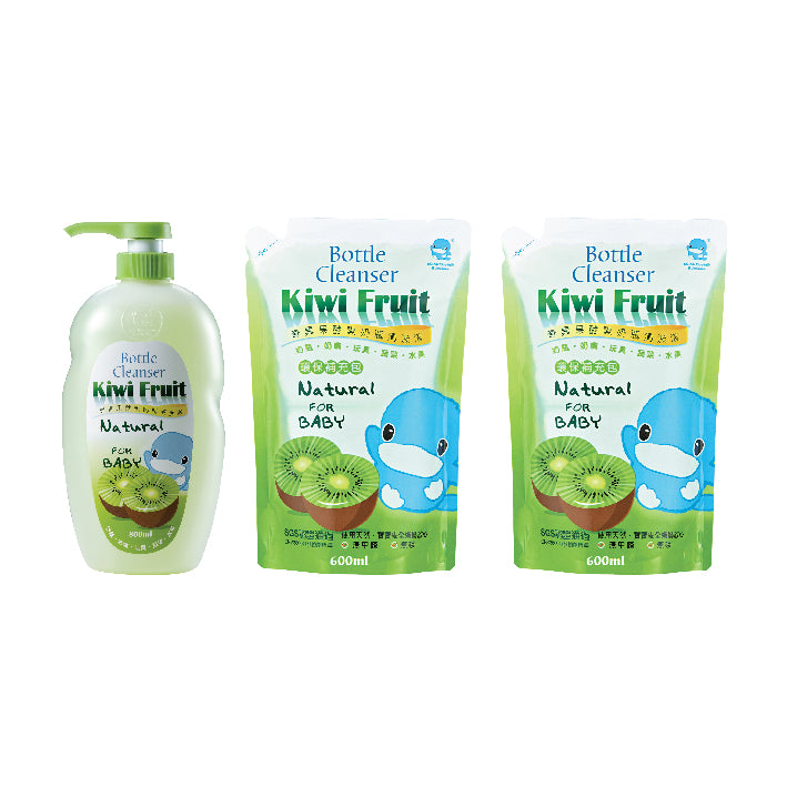 KUKU Kiwi Fruit Bottle Cleanser Value Pack