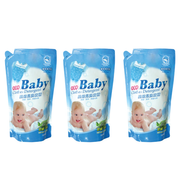 KUKU Baby Clothing Detergent Value Pack - 1000ml x 3 Pack