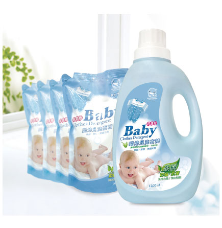 KUKU Baby Clothing Detergent 1+ 4 Value Pack