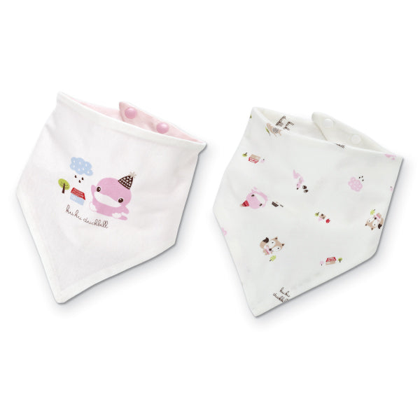 KUKU Reversible Bandana Bibs - Birthday Hat x 2 Pack